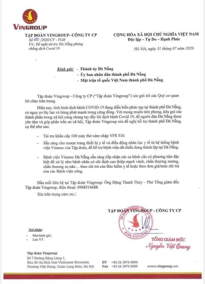 VinGroup tài trợ khẩn cấp cho Đà Nẵng 100 máy thở xâm nhập VFS510.jpg