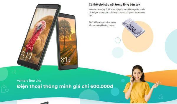 Cách mua điện thoại Vsmart Bee lite và các thông tin liên quan
