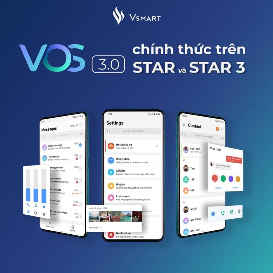 [29/07/2020] VOS 3.0 Stable trên Vsmart Star và Star 3 chính thức ra mắt